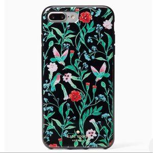 🆕{kate spade} Hummingbird Jeweled iPhone 8+ Case